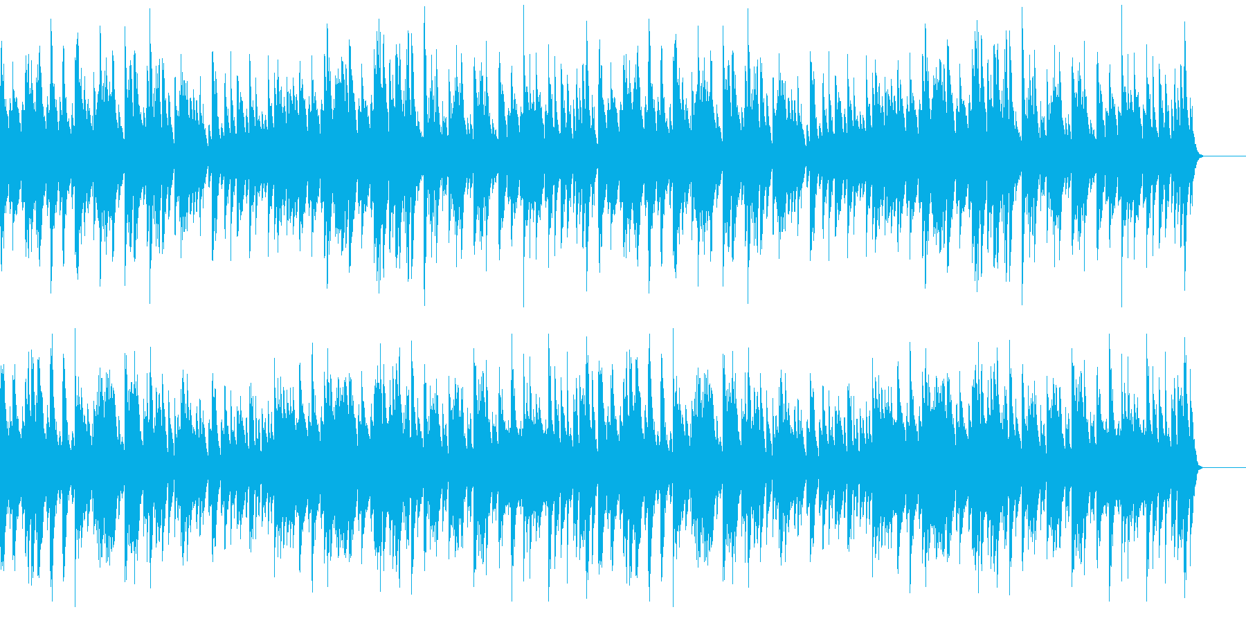 しんしんと降る雪のようなソロ・ピアノ曲の再生済みの波形