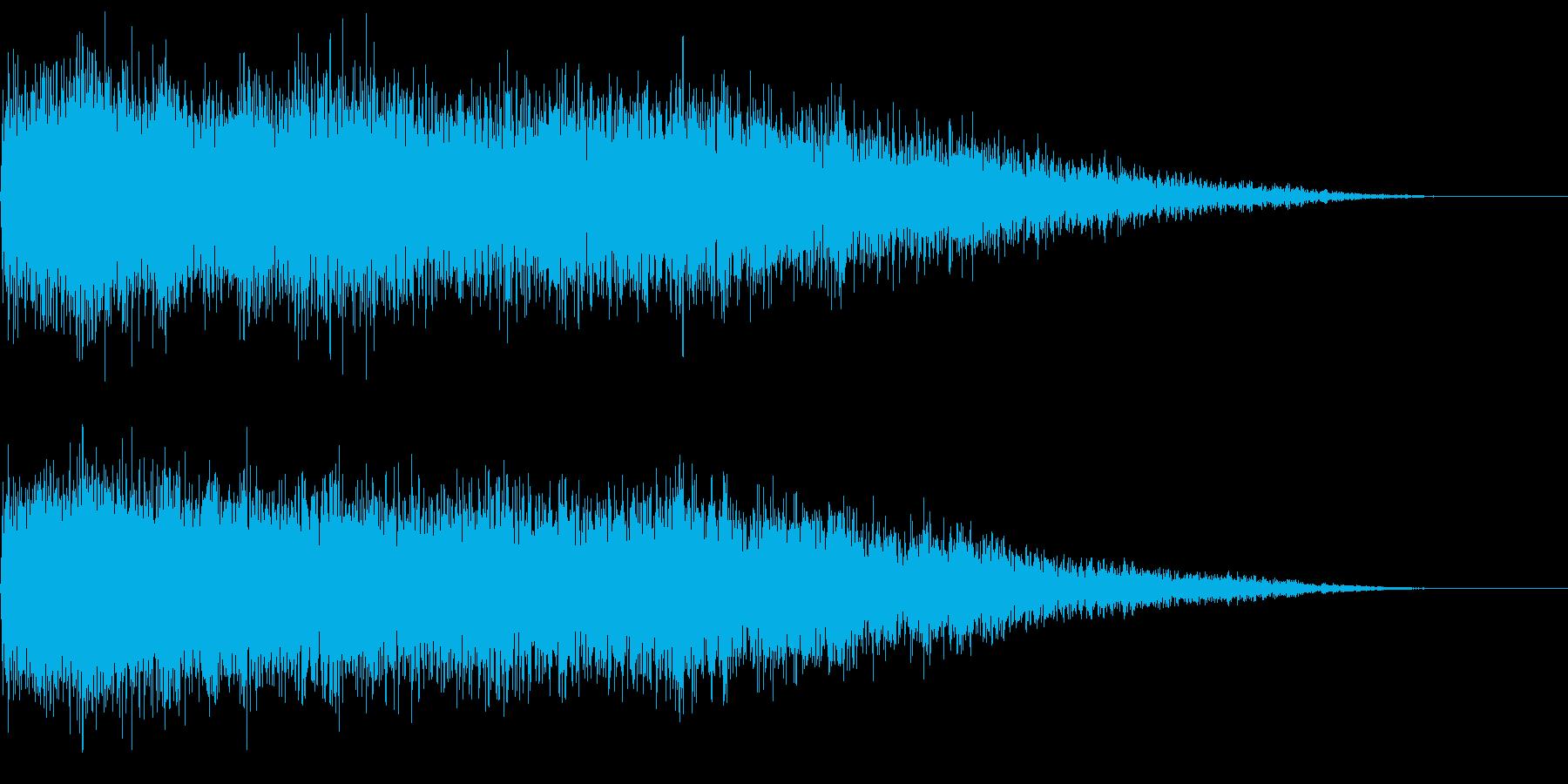【ビシュイーン】魔法系効果音の再生済みの波形