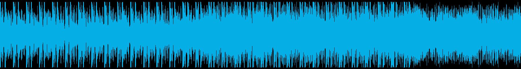 推理/ミステリー向けのアンビエント曲の再生済みの波形