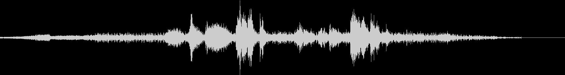 倍音を使った音楽の未再生の波形