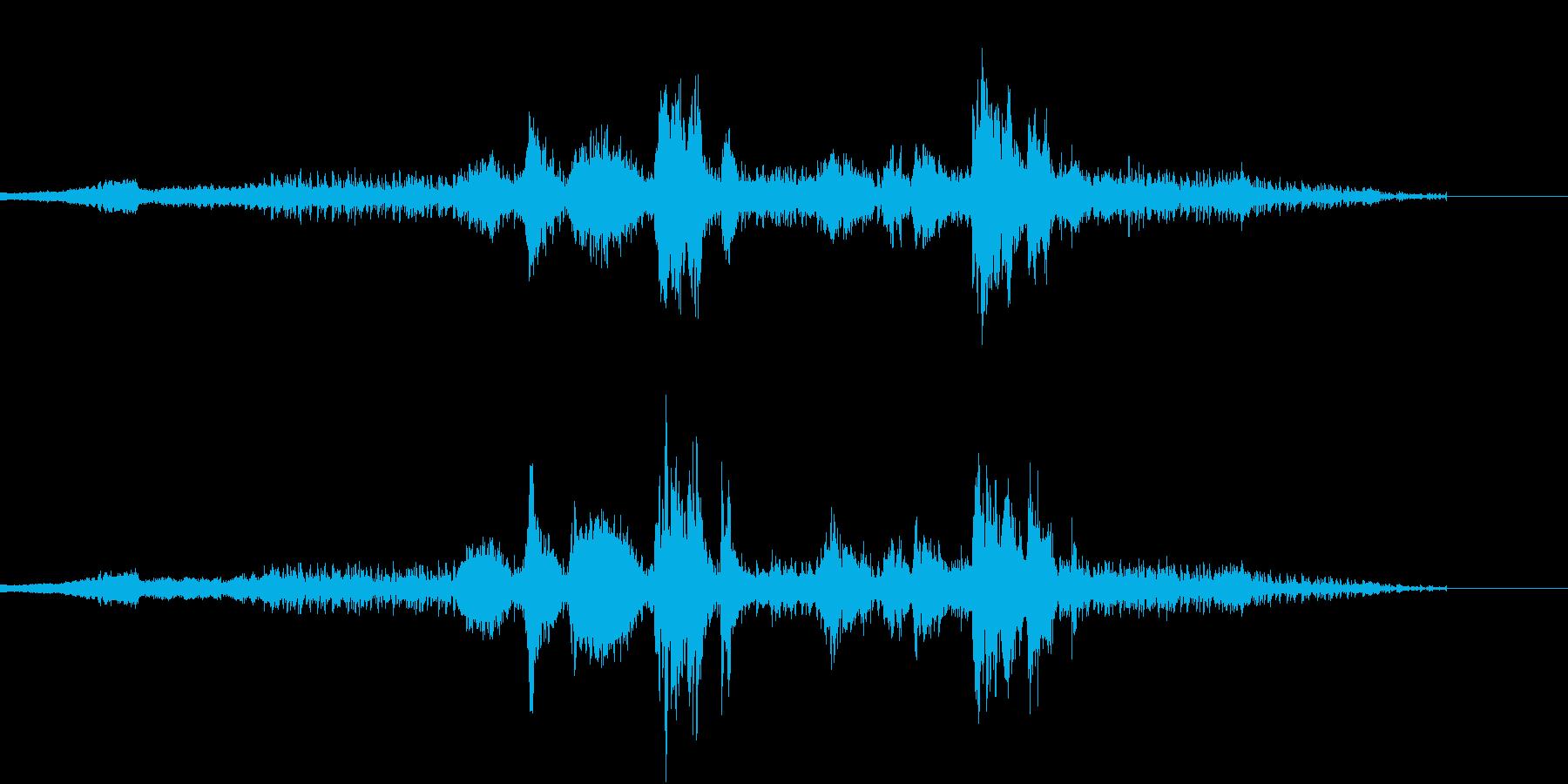 倍音を使った音楽の再生済みの波形