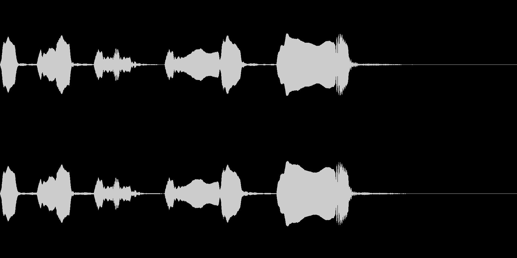 ジングル リコーダー 日常 緩いの未再生の波形
