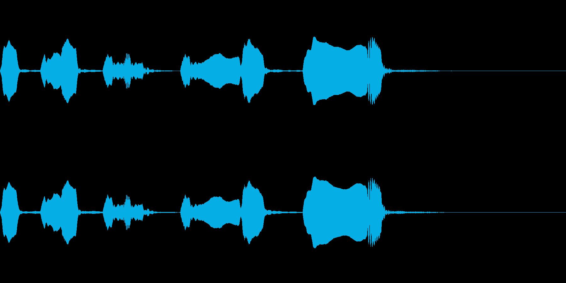 ジングル リコーダー 日常 緩いの再生済みの波形