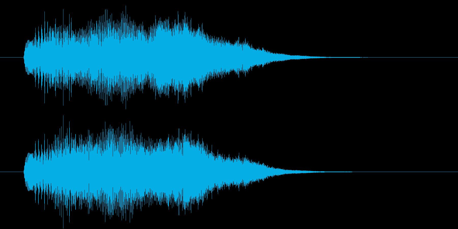 キラキラアルペジオ2の再生済みの波形