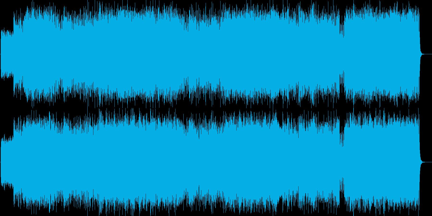 ライブハウスから聞こえてきそうなロックの再生済みの波形