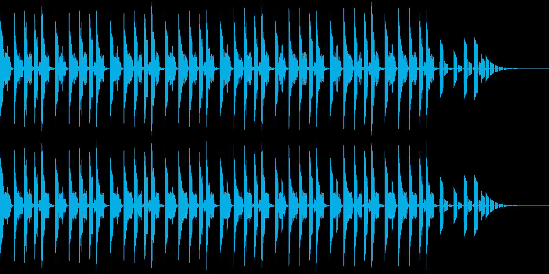 エレピを使ったSF風のジングルの再生済みの波形