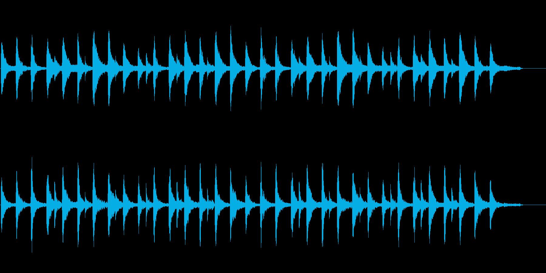 幻想的でメロディレスなピアノソロの再生済みの波形