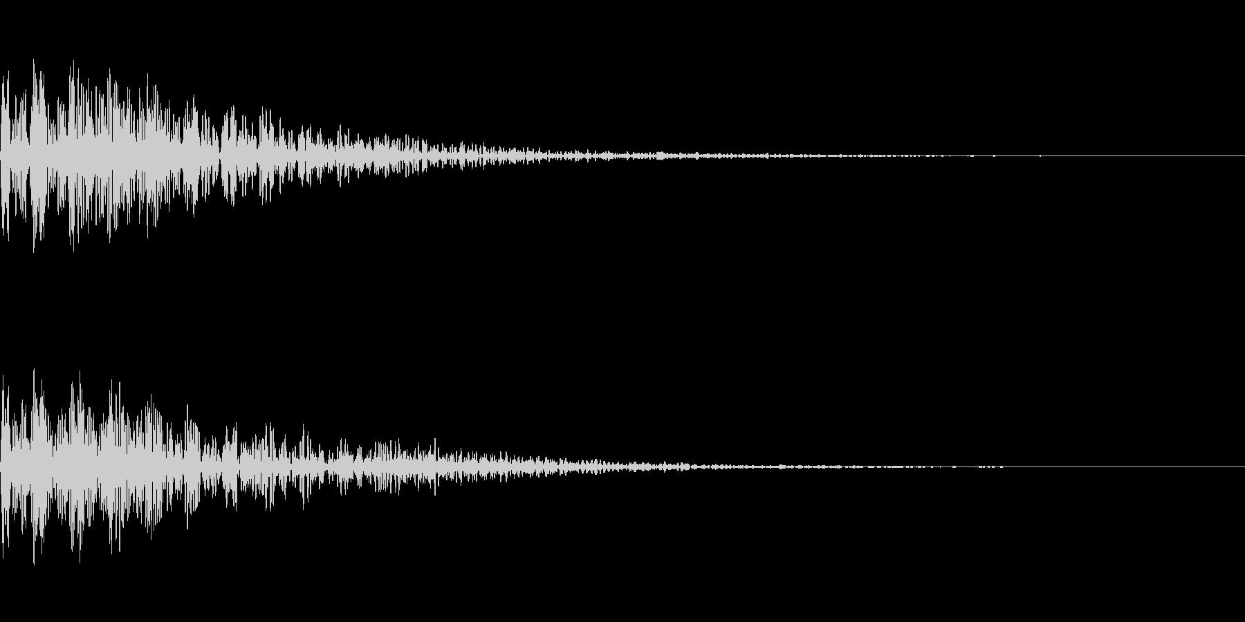 [ボーン]失敗(暗く短い)の未再生の波形