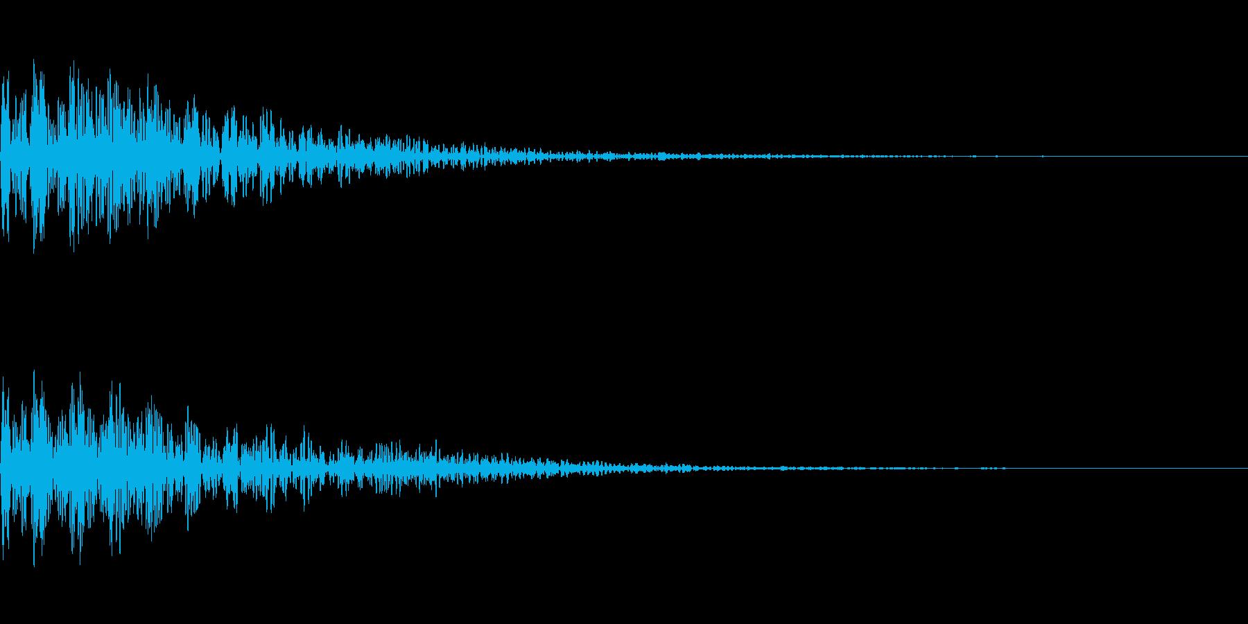 [ボーン]失敗(暗く短い)の再生済みの波形