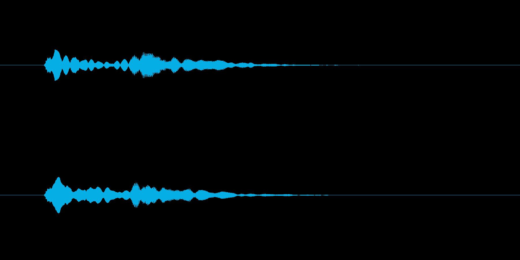 ピンポン(注目、お知らせ、終了)の再生済みの波形