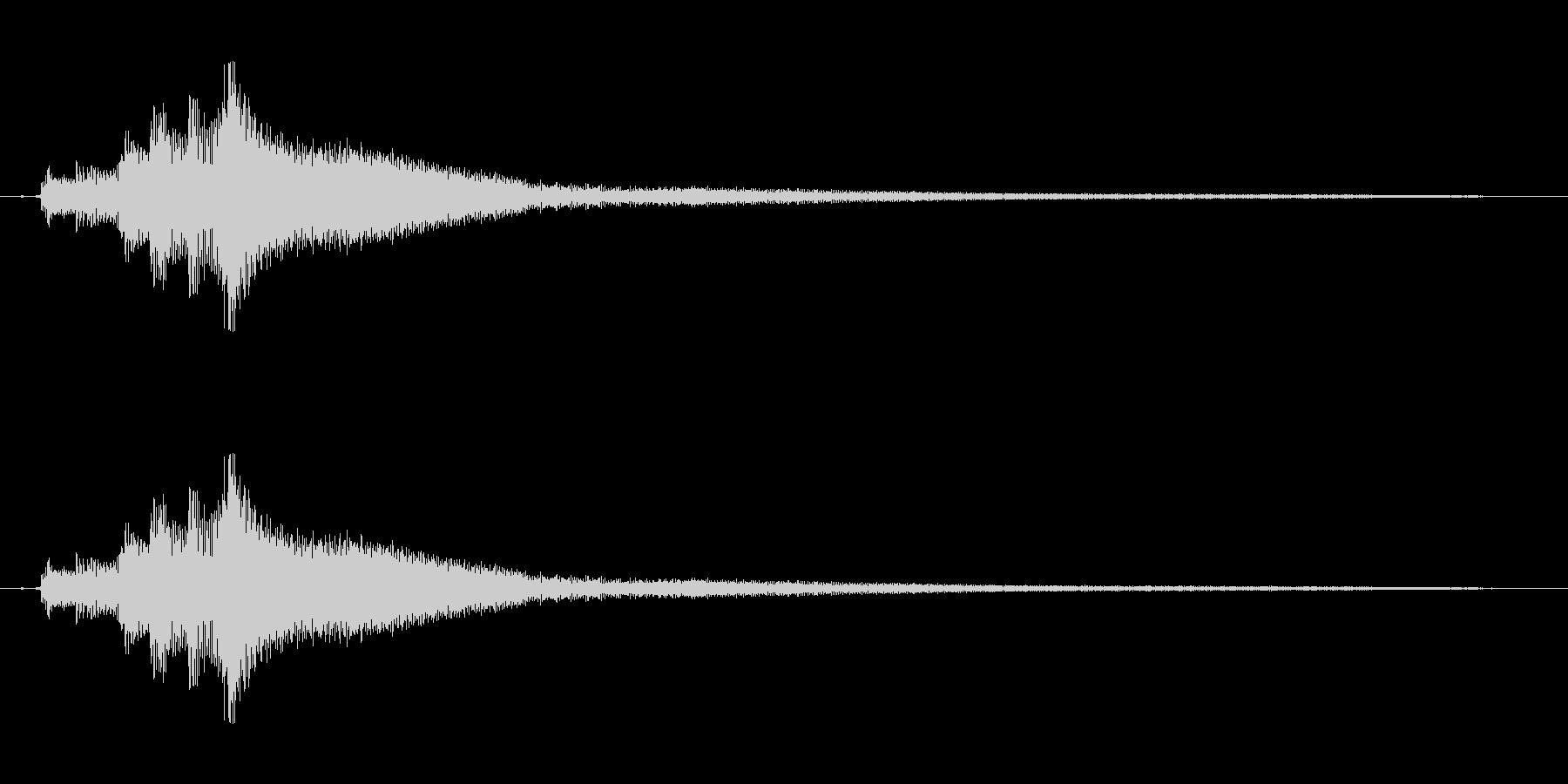 ピアノ。タララララランの未再生の波形