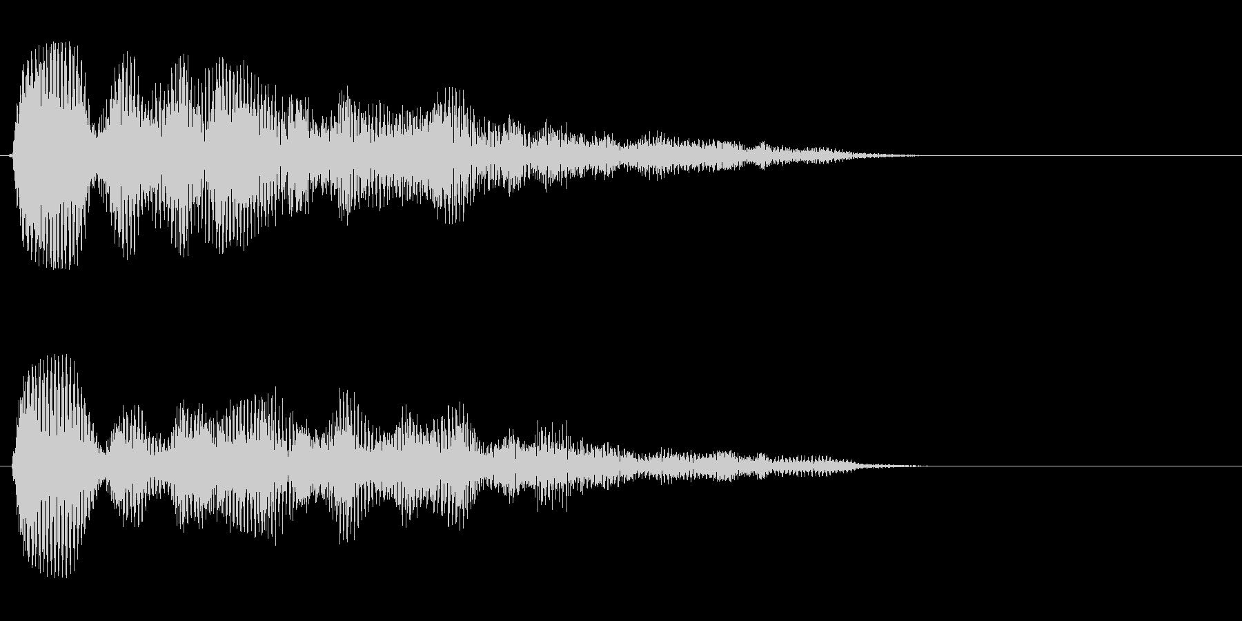 タラタラ〜ン(煌くような美しい効果音)の未再生の波形