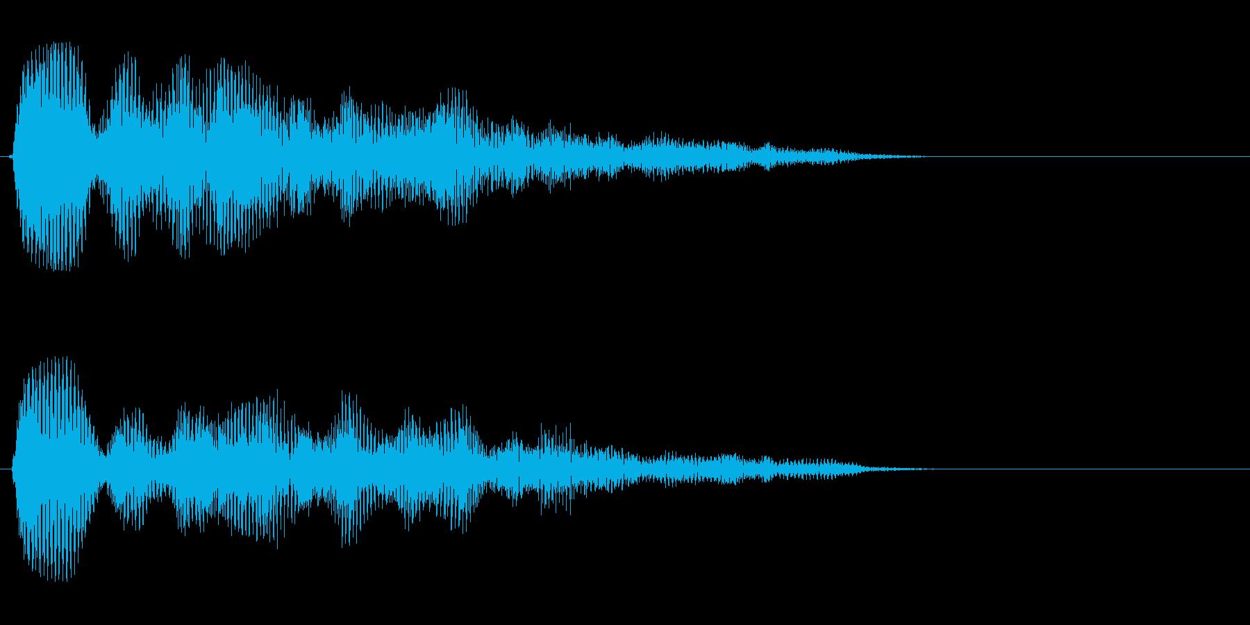 タラタラ〜ン(煌くような美しい効果音)の再生済みの波形