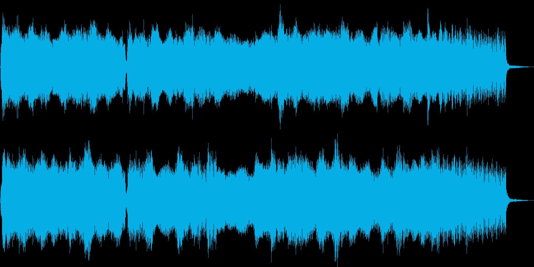 ほのぼのした雰囲気のポップジングルの再生済みの波形