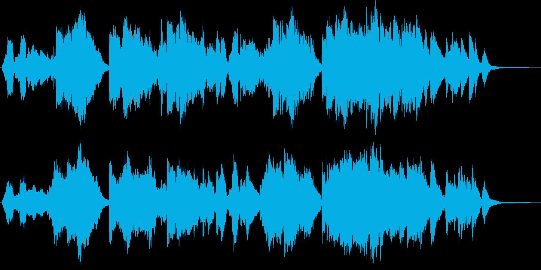 優しく切ないピアノとバイオリンの演奏の再生済みの波形
