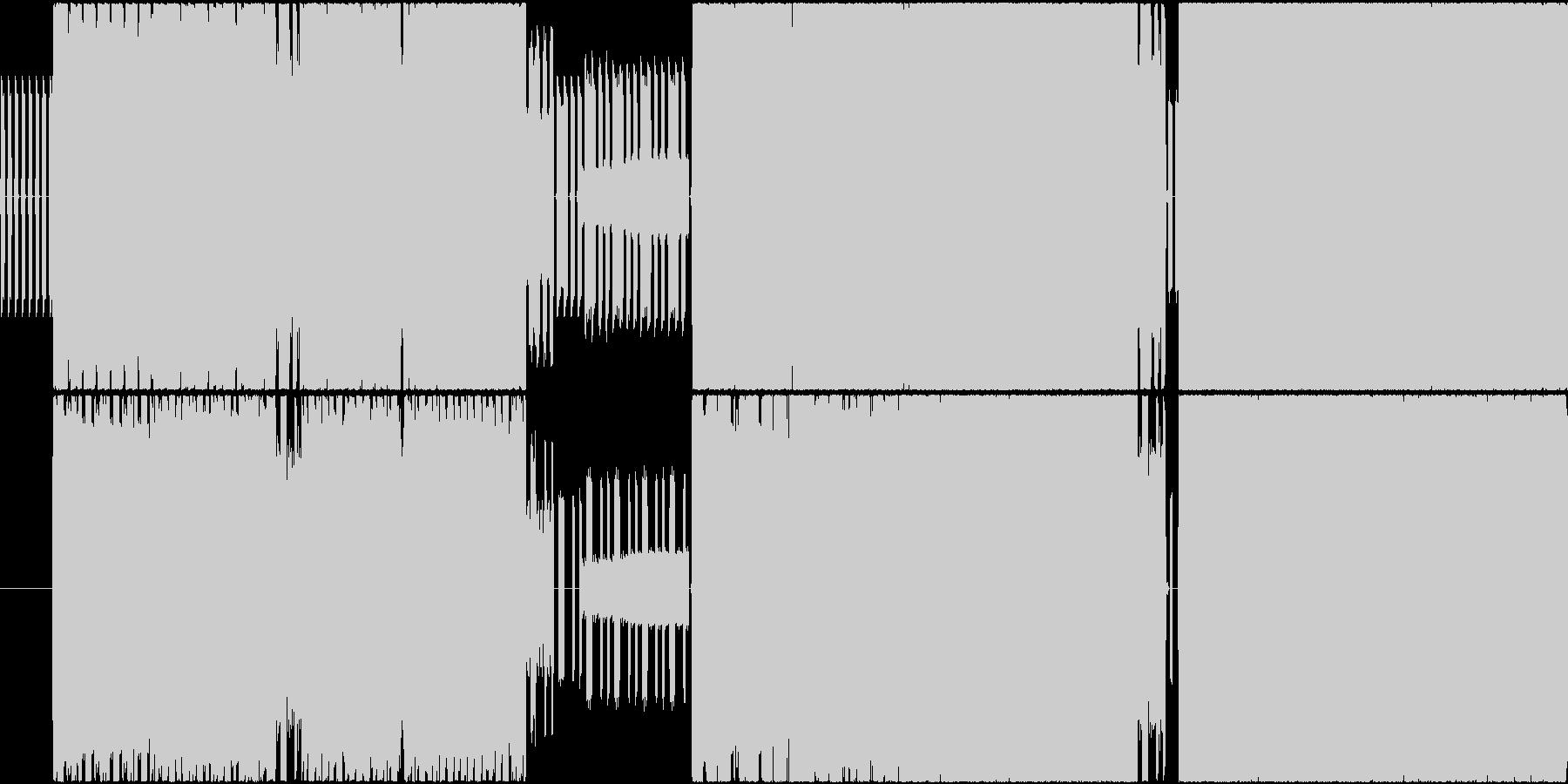 疾走感溢れる近未来SFチックな曲の未再生の波形