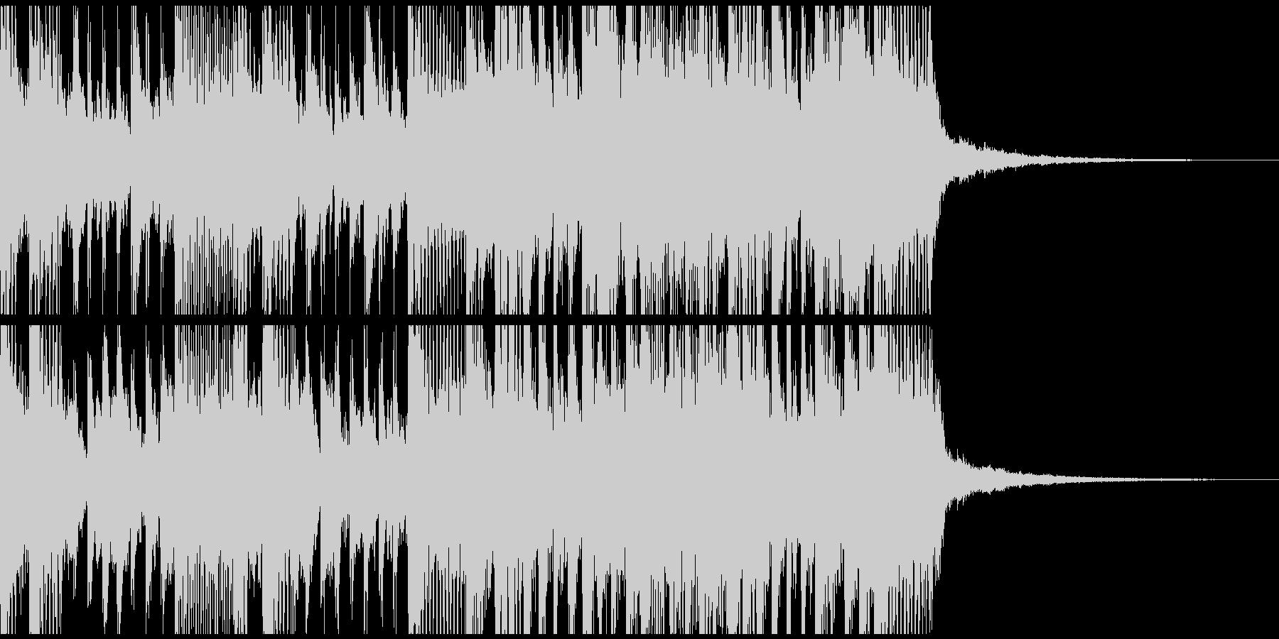 三味線とギターの重厚な和風ロックジングルの未再生の波形