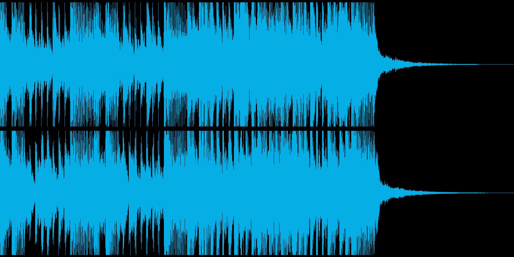 三味線とギターの重厚な和風ロックジングルの再生済みの波形