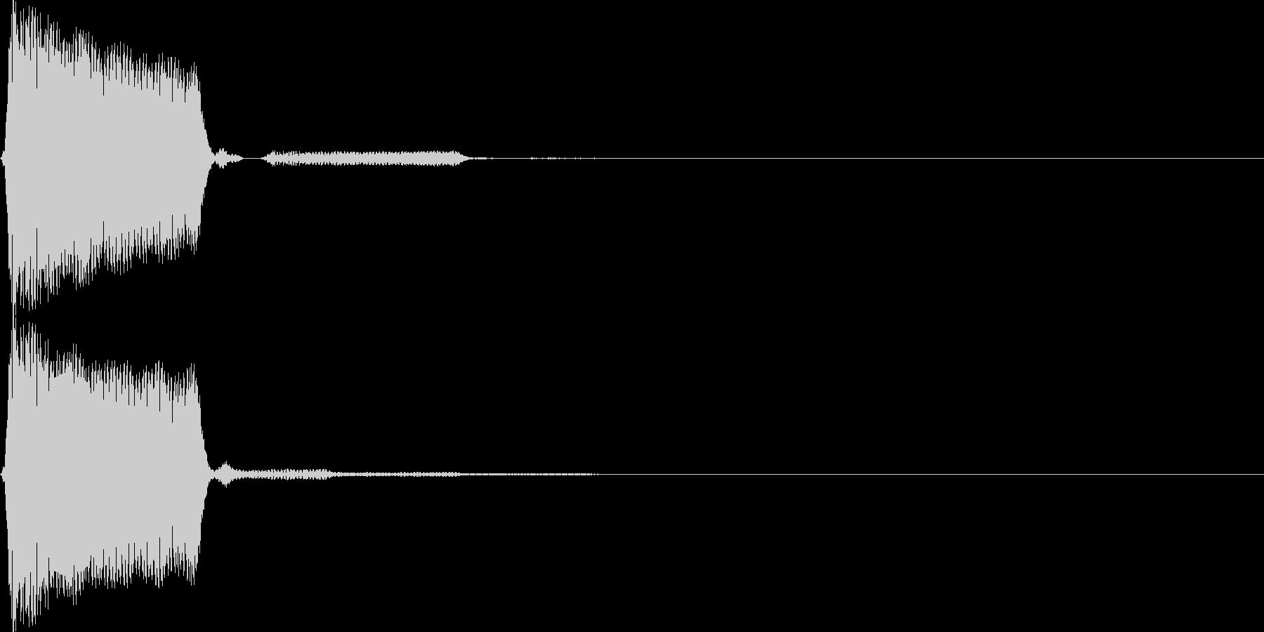 【SE】操作音04(ピ)の未再生の波形