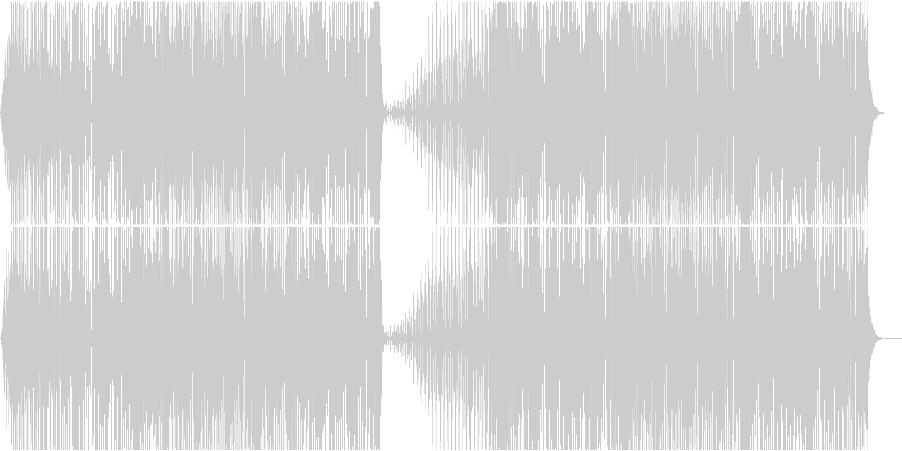 大人し目のハウスの未再生の波形