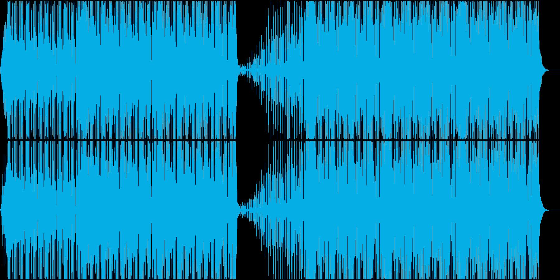 大人し目のハウスの再生済みの波形