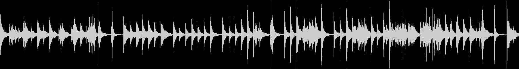 ゆっくりめの琴、和風のBGM(ループ)の未再生の波形