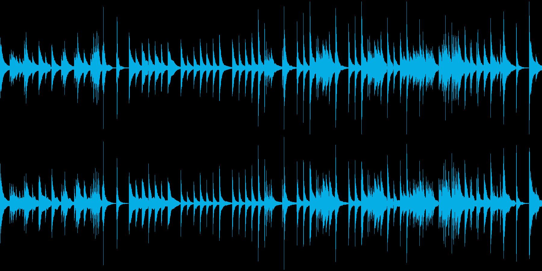 ゆっくりめの琴、和風のBGM(ループ)の再生済みの波形