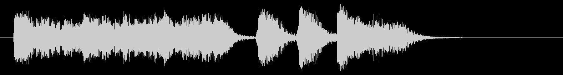 はげしいピアノの5秒ジングルの未再生の波形