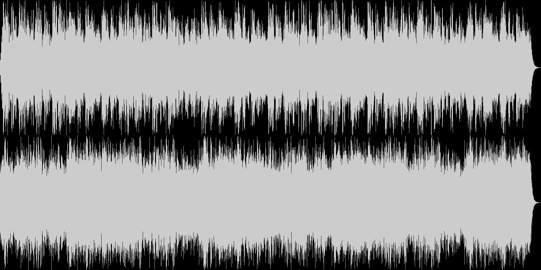 神秘的なリラクゼーションミュージックの未再生の波形