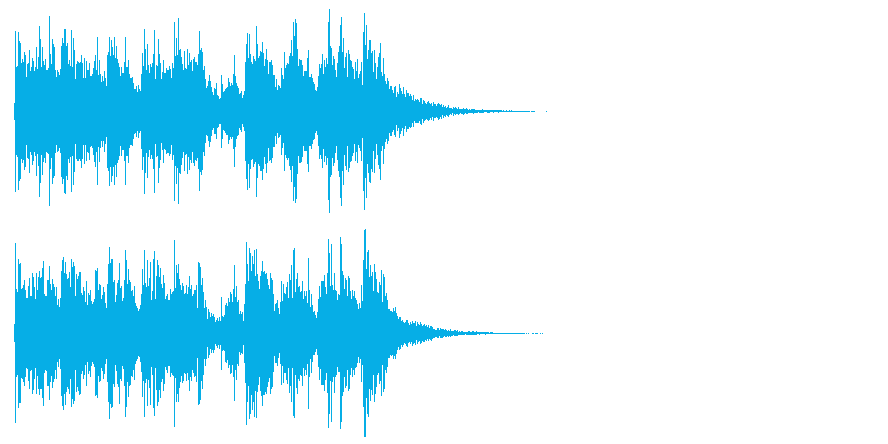 テーマ コミカル エンディング 楽しいの再生済みの波形
