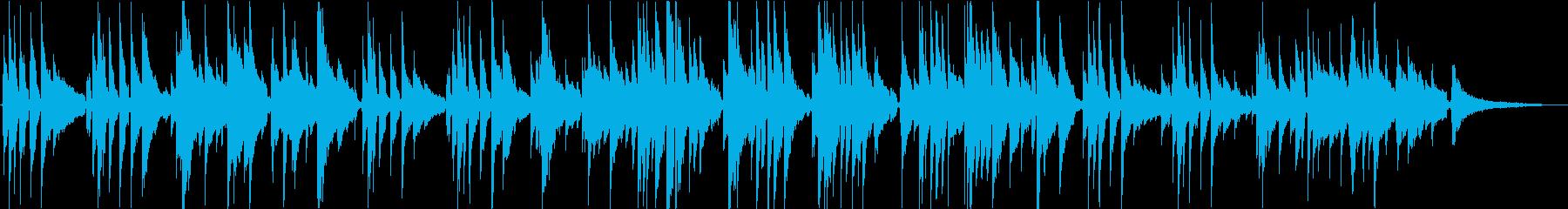 ノスタルジックな優しい曲の再生済みの波形