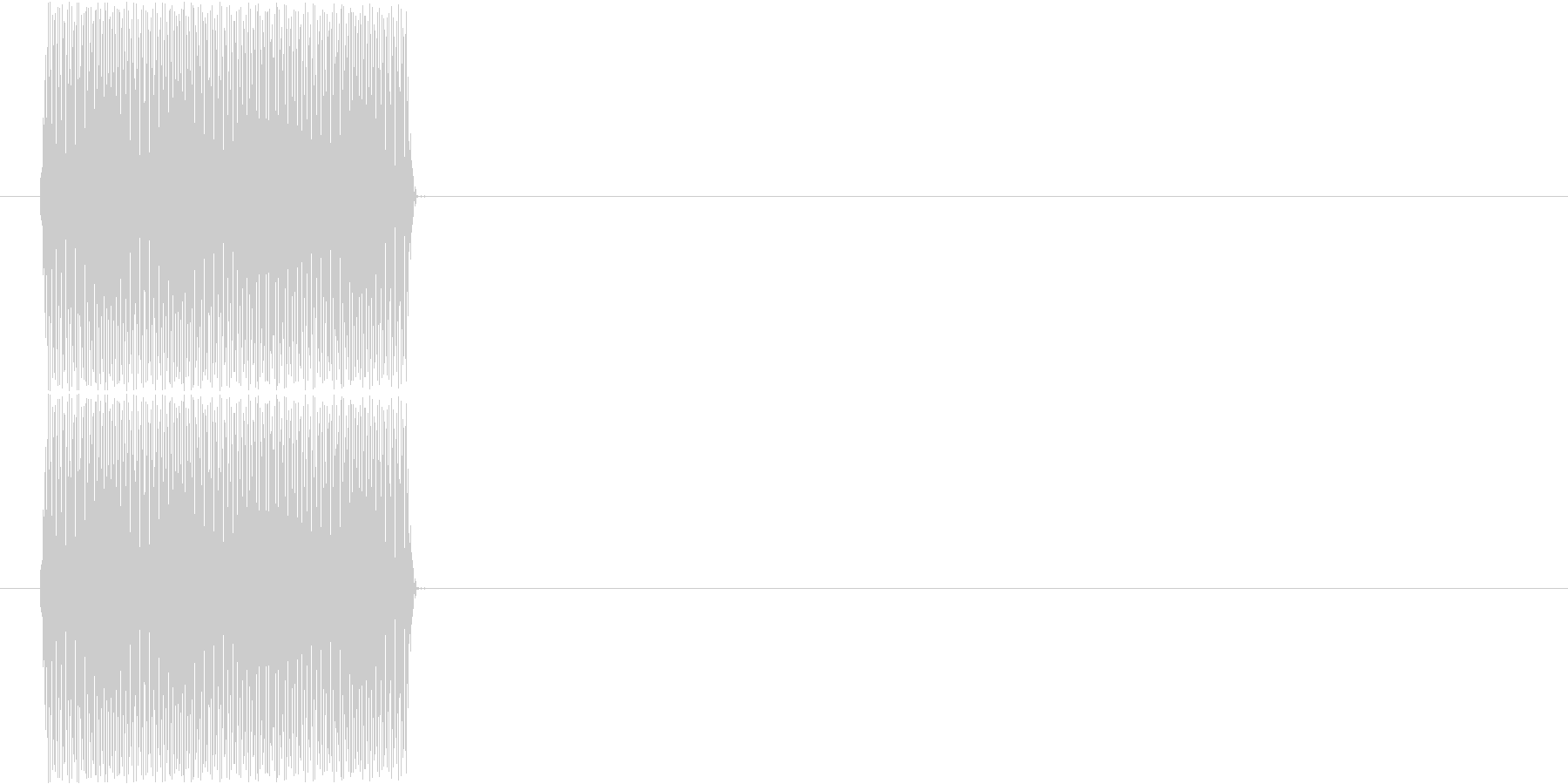 電話(ピッ、プッシュトーン、ボタン)の未再生の波形