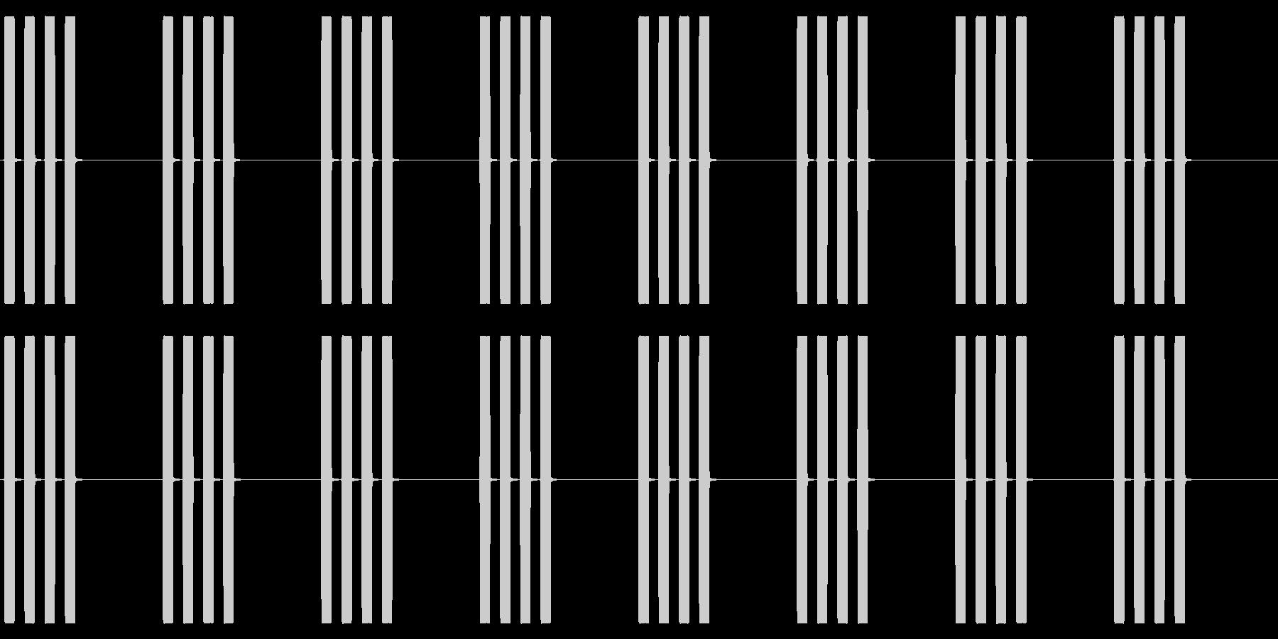 【効果音】目覚まし時計2_4回おきの未再生の波形