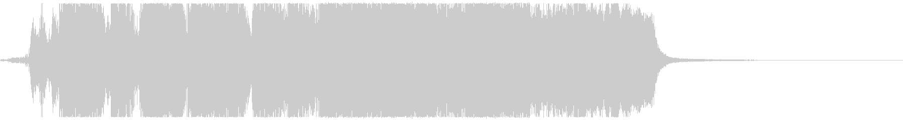 威厳のある金管5重奏のファンファーレの未再生の波形