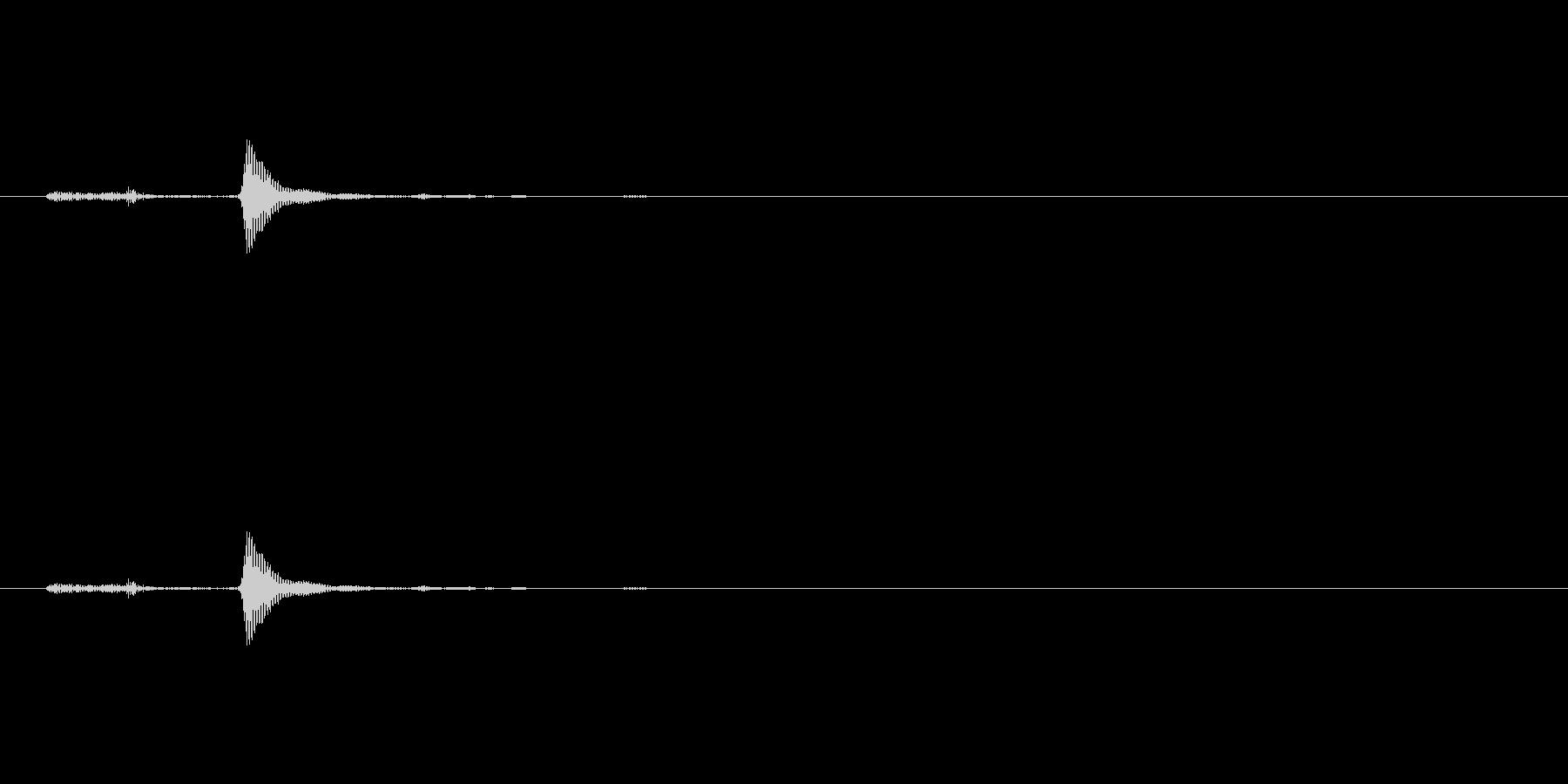 選択、決定、ポワン、ポップ_2の未再生の波形