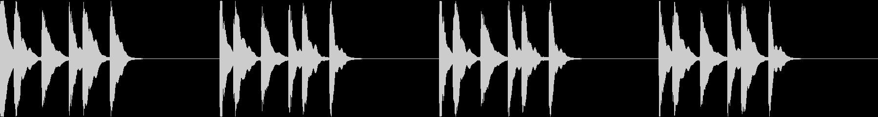シンプル ベル 着信音 チャイム C20の未再生の波形