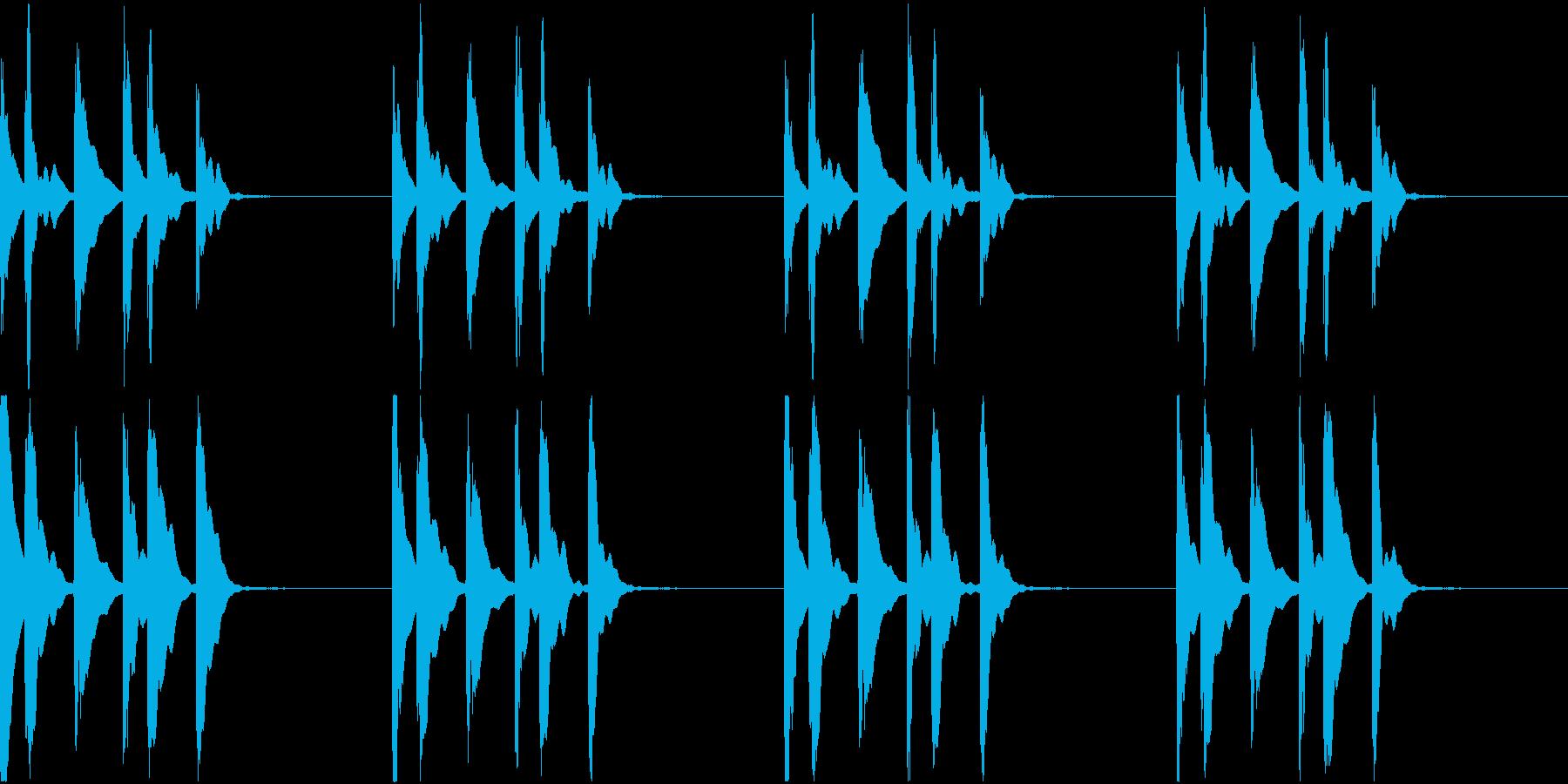 シンプル ベル 着信音 チャイム C20の再生済みの波形