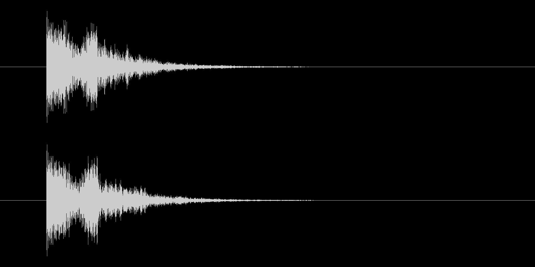 決定・キャンセル(甲高い)の未再生の波形