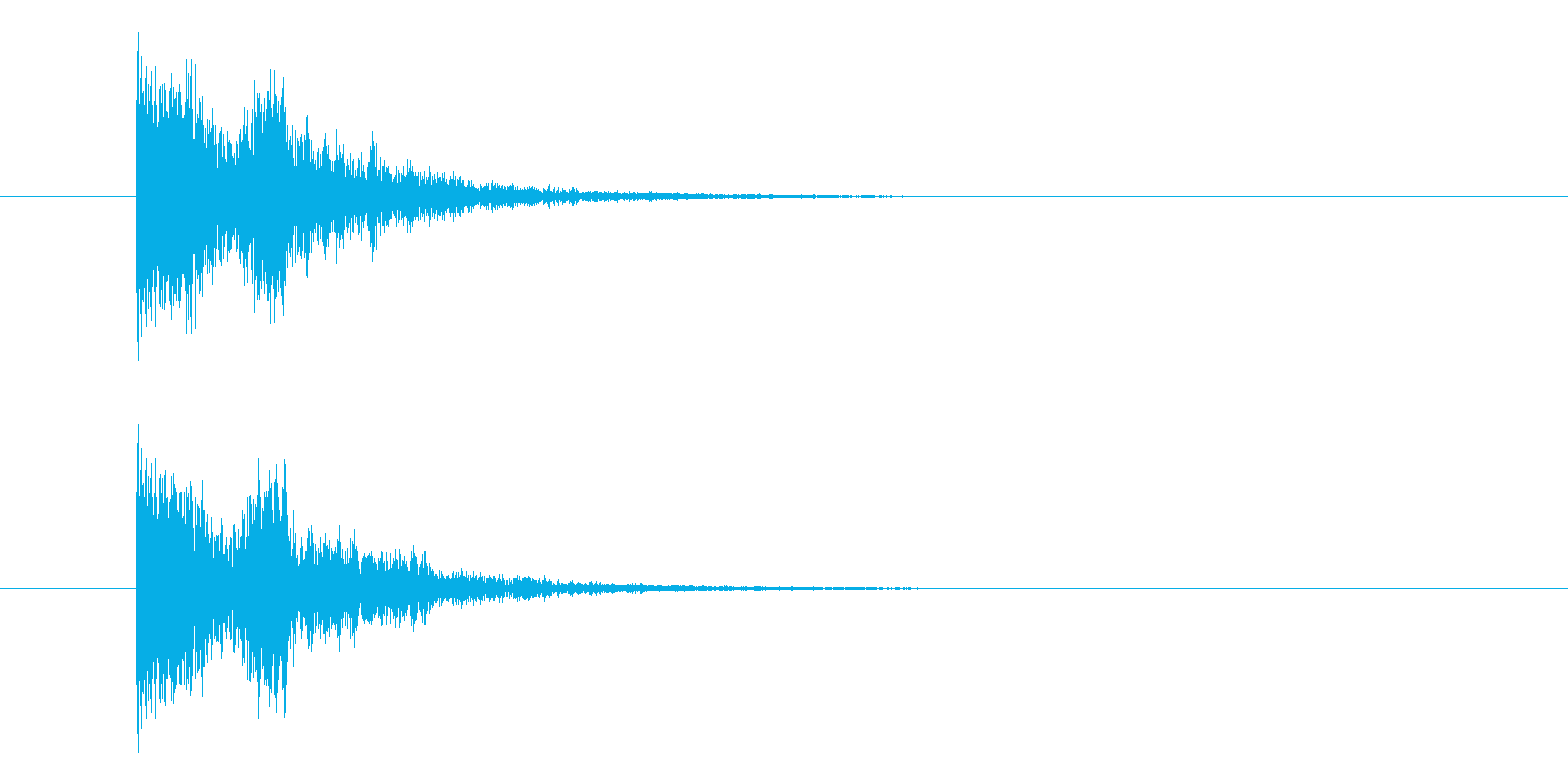 決定・キャンセル(甲高い)の再生済みの波形
