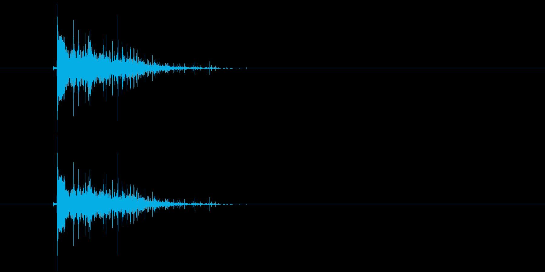 ドスン(着地音)の再生済みの波形