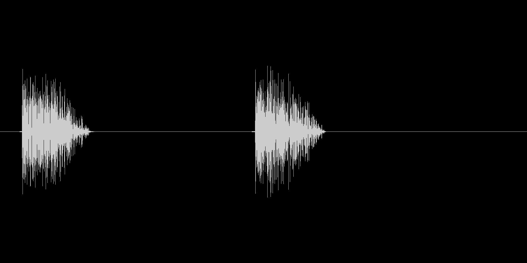 8bitの打撃 ガッガッの未再生の波形