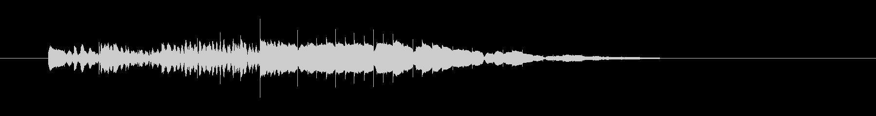 ピロロロロロロン(木琴の音、お知らせ音)の未再生の波形