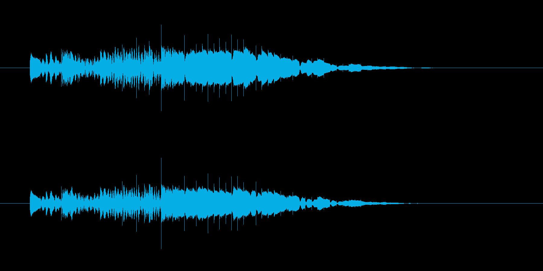 ピロロロロロロン(木琴の音、お知らせ音)の再生済みの波形