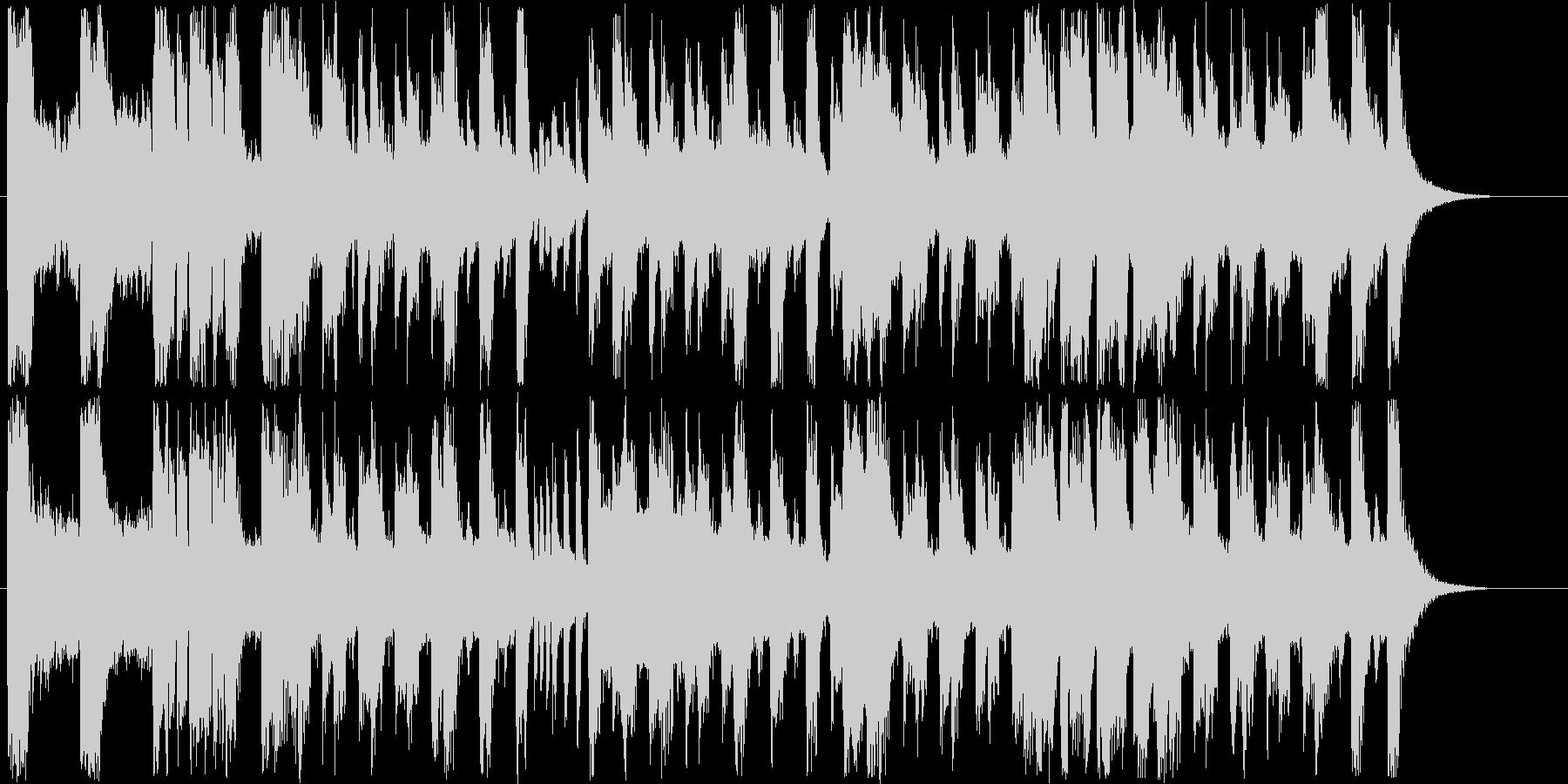明るいシンセサイザー短めジングルの未再生の波形