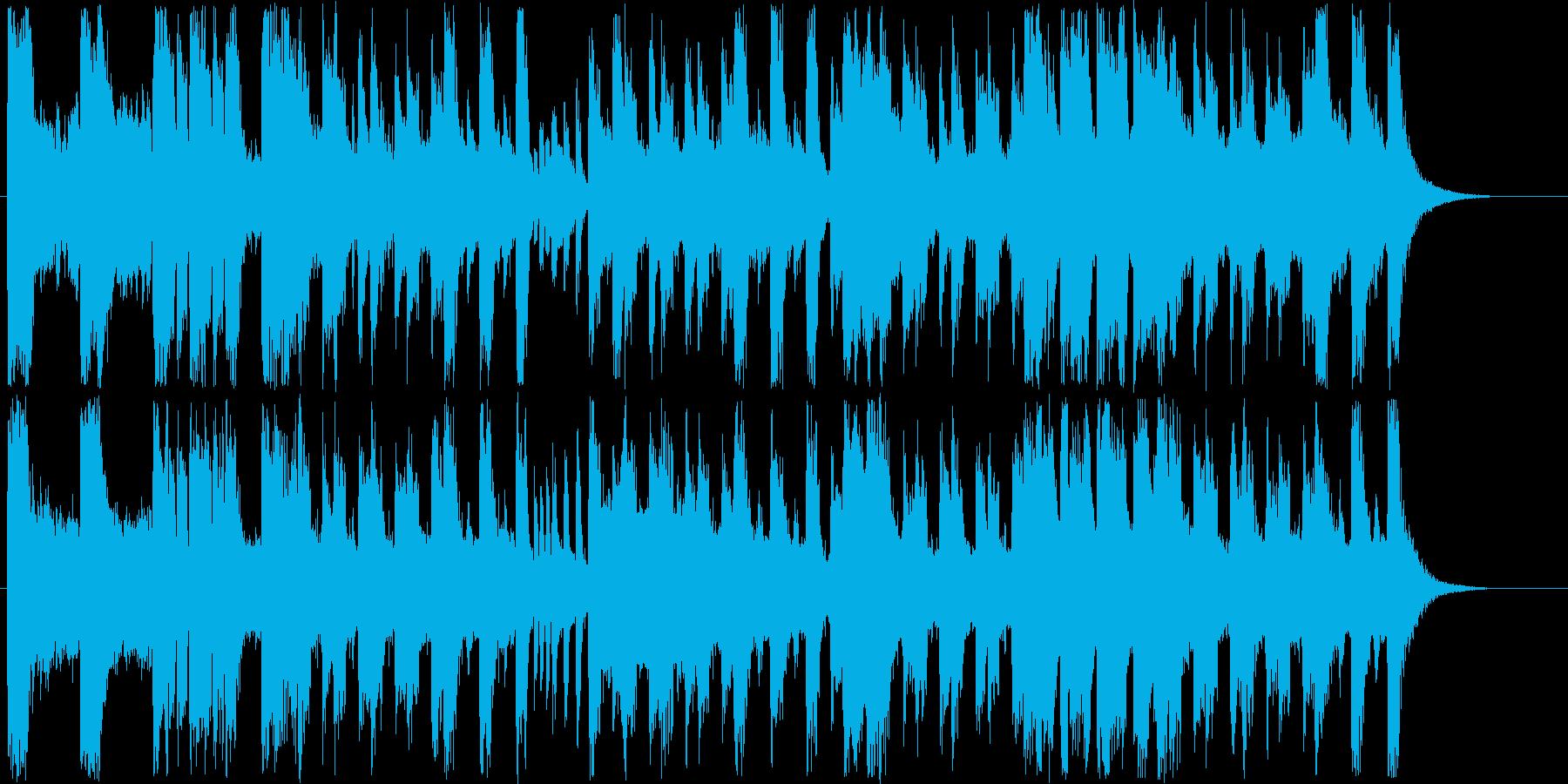 明るいシンセサイザー短めジングルの再生済みの波形