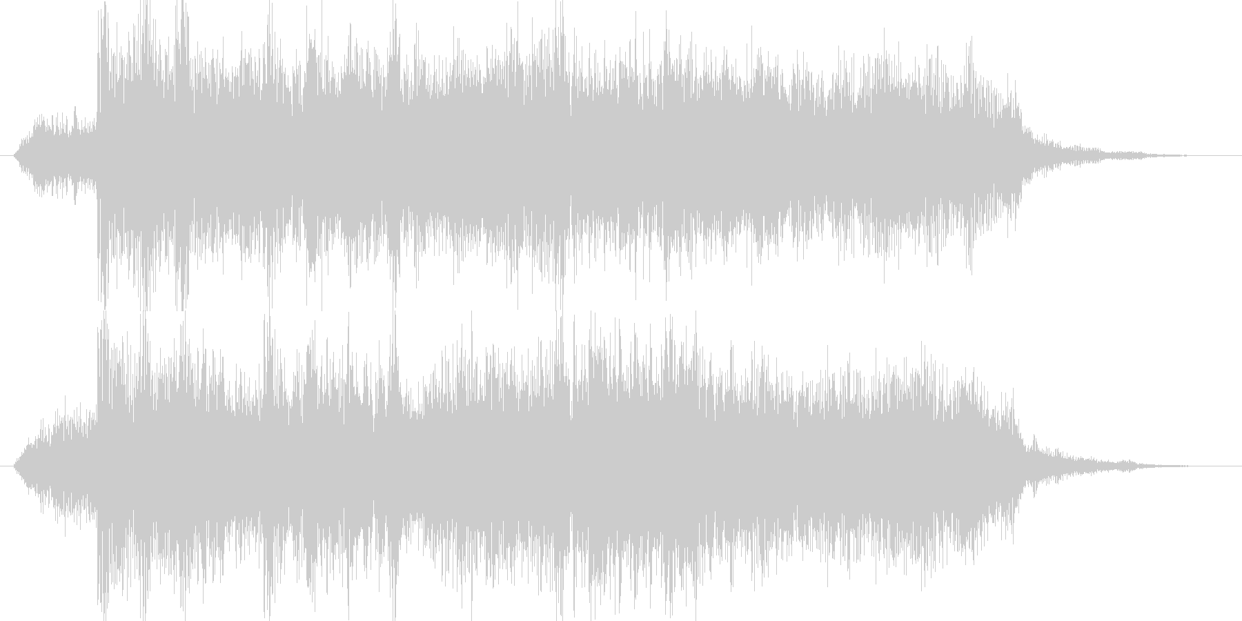 高音質♪ロックアップ出囃子の未再生の波形