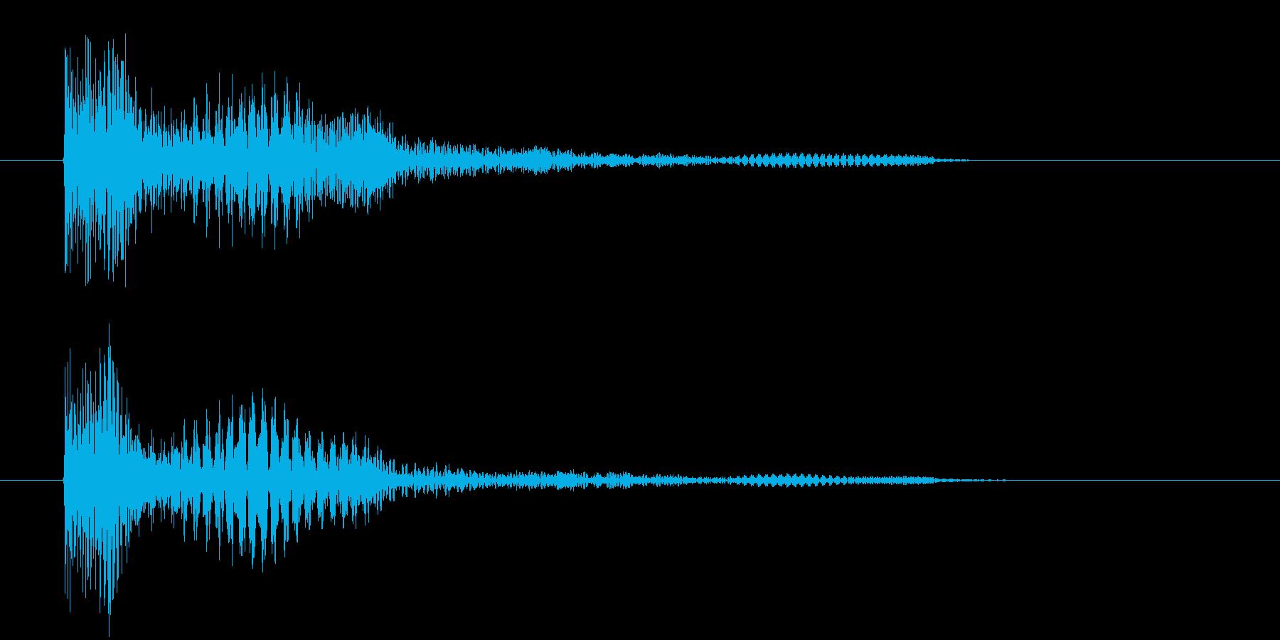 ぎょ~~~ん、と下がる音です。の再生済みの波形