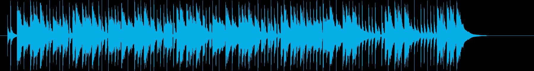 緩やかでリズミカルなシンセポップジングルの再生済みの波形