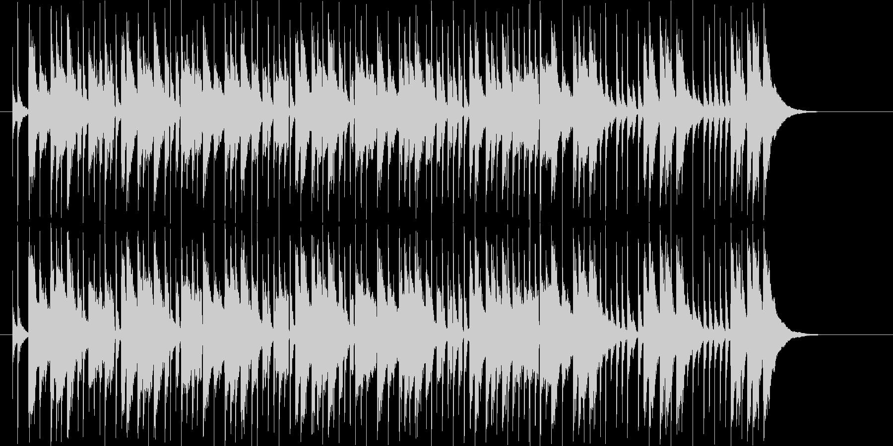 緩やかでリズミカルなシンセポップジングルの未再生の波形