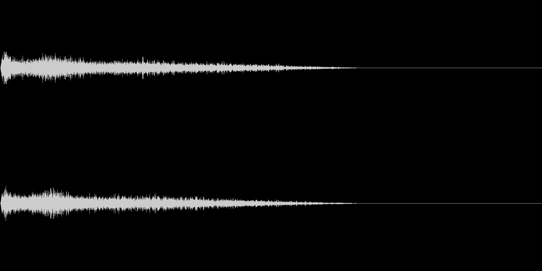 Dメジャー インパクト音 衝撃音の未再生の波形